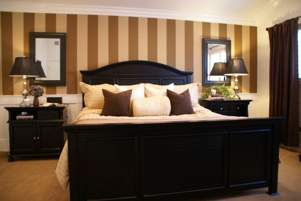 Master Bedroom. Brown, Calm, Symmetric, Classy Mountain Feel. LOVE