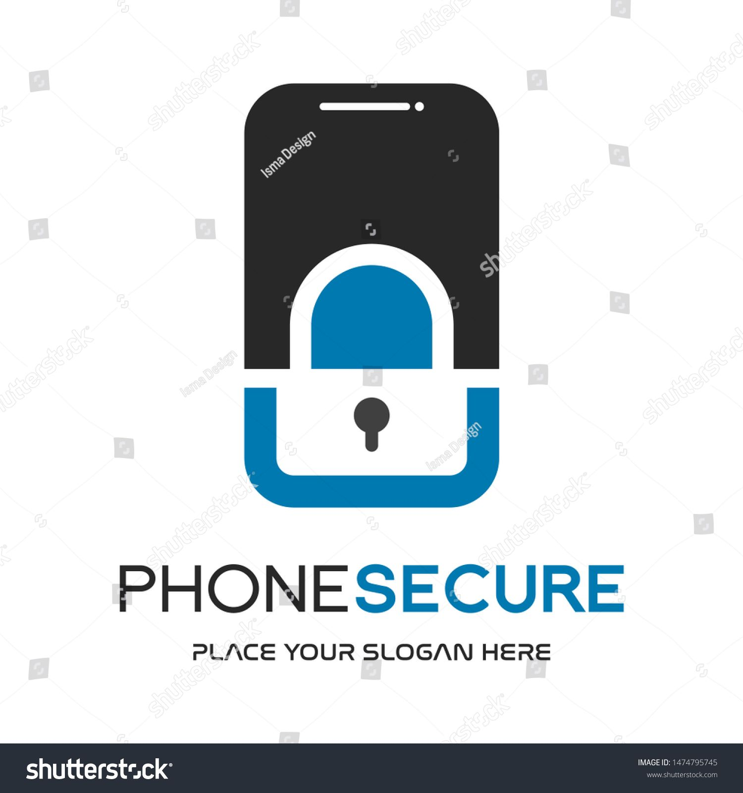 Phone Security Vector Logo Template With Key Symbol Ad Sponsored Vector Security Phone Logo Social Media Design Graphics Abstract Lines Phone Logo