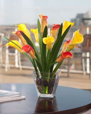 Calla Lily And Foliage Silk Centerpiece Orange Yellow Want To Know More Click On The Image
