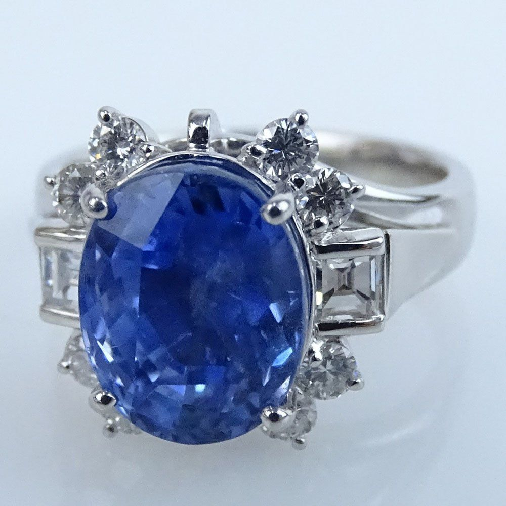 certified white tanzanite ring blue gia and kt diamond cut tcw gold emerald natural q