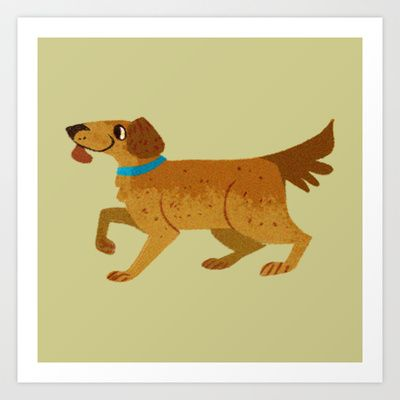 Golden Retriever - Solo Art Print by Reimena Ashel Yee - $15.00