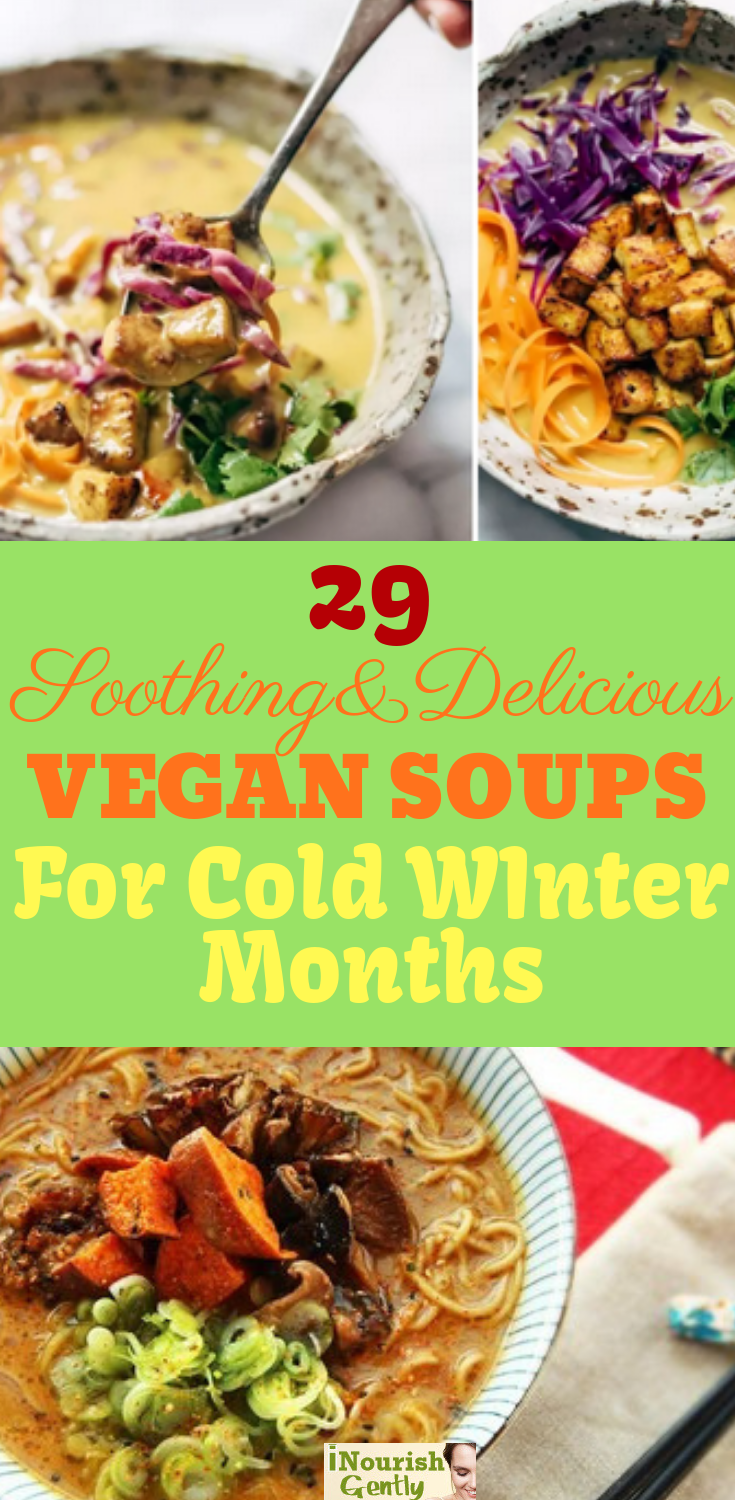 29 Soothing Delicious Vegan Soups For Cold Winter Months