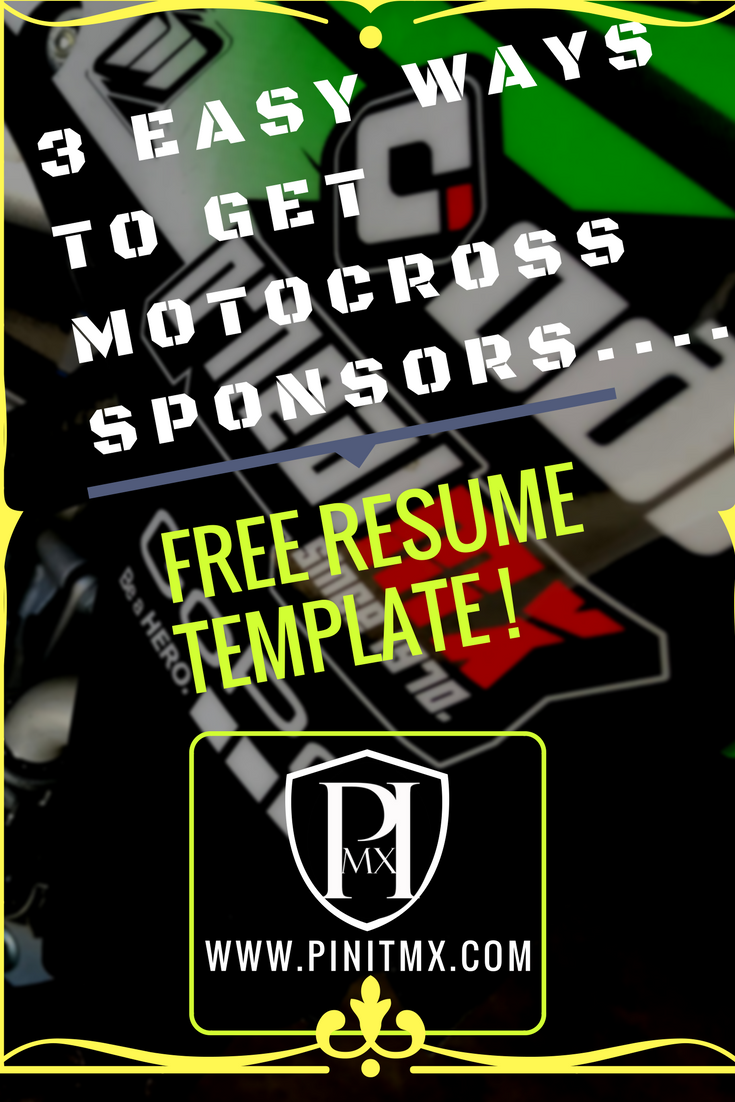 Check Out These 3 Ways To Go About Getting Motocross Sponsorship! #Motocross  #mx