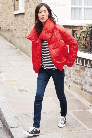 Red Short Duvet Jacket From Next Israel