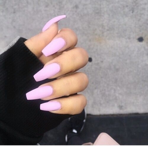 Nails Pink Beauty Hand Tumblr Cute Acrylic Nails Pink Nails Long Nails