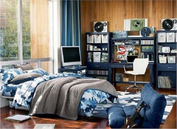 I know its a boy room but it looks comfy! id change some things, but