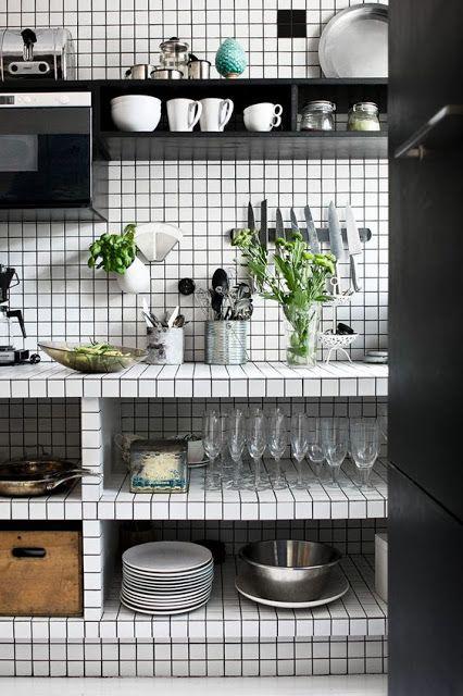 Cuisine Carrelage Blanc Joint Noir Skonahem Via Nat Et Natur Decoration Interieure Noir Et Blanc Interieur De Cuisine Cuisines Design