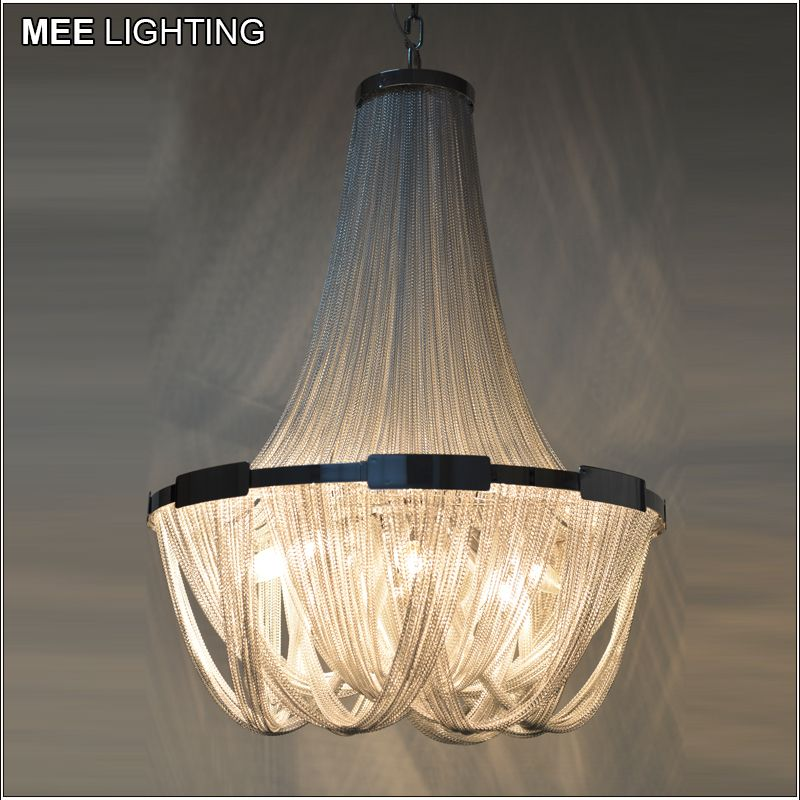 French empire chain chandelier light fixture for restaurant modern long chain hanging suspension drop lustre lamp chain light