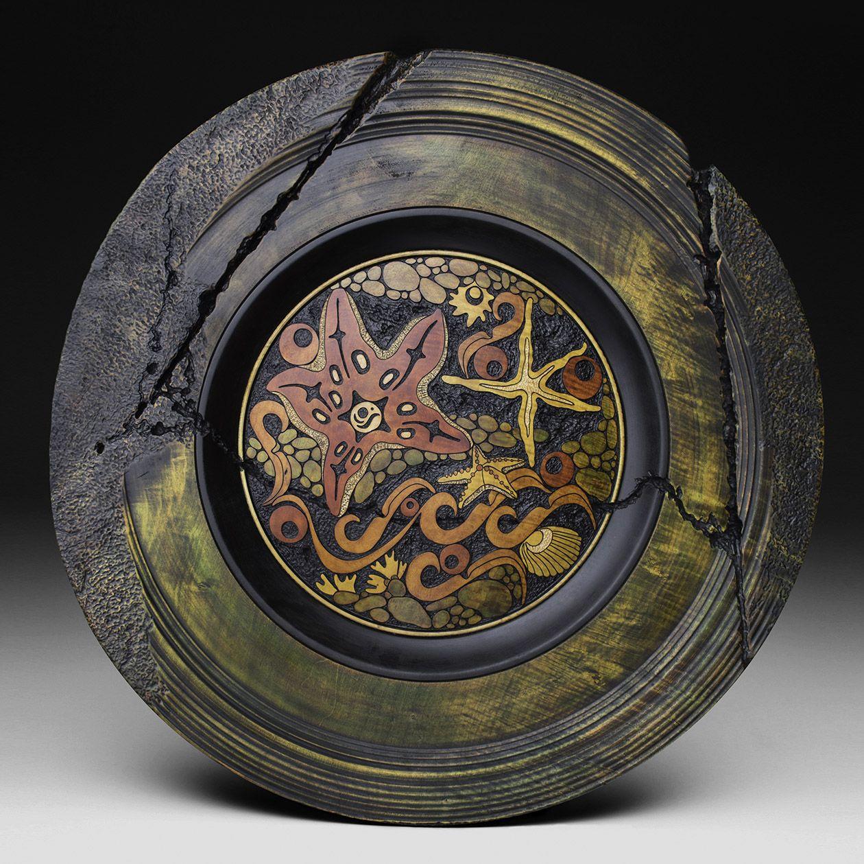 Tidal stars pottery pinterest wood turning jar art and wood