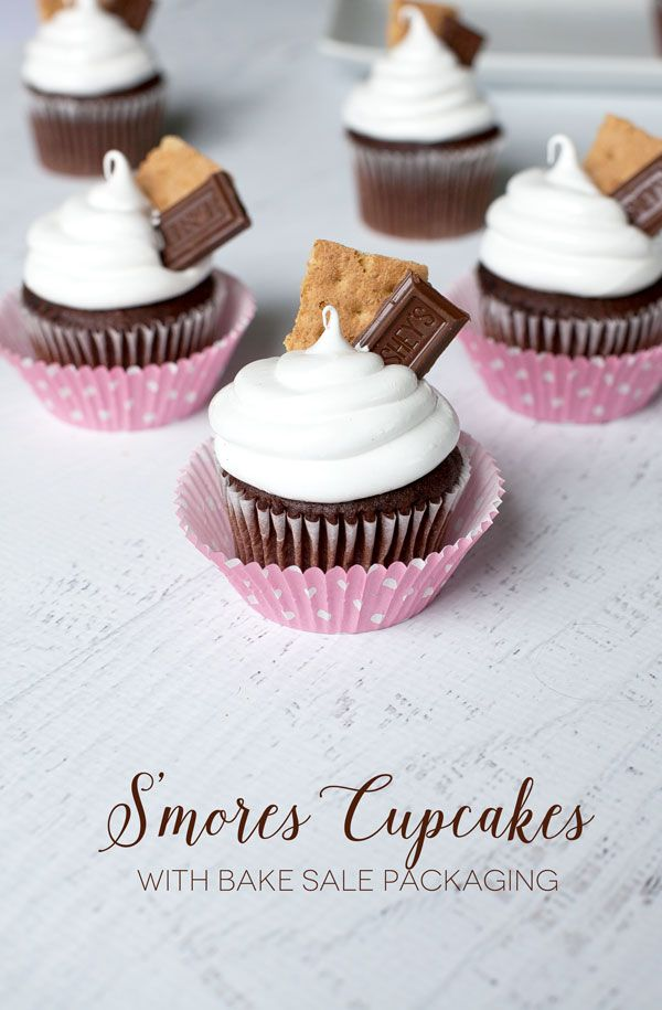 Bake Sale Recipe Winner: S'Mores Cupcakes - Frog Prince Paperie #bakesaleideas