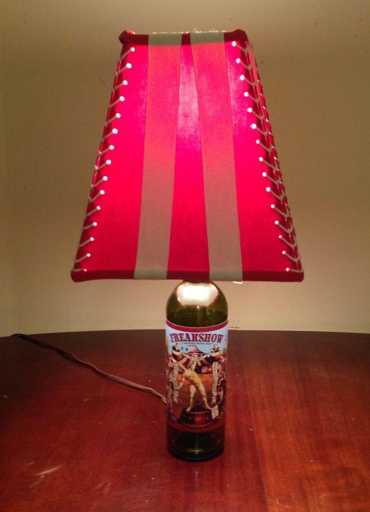 Freakshow wine bottle l& circus american horror story weird clown tent & Freakshow wine bottle lamp circus american horror story weird ...
