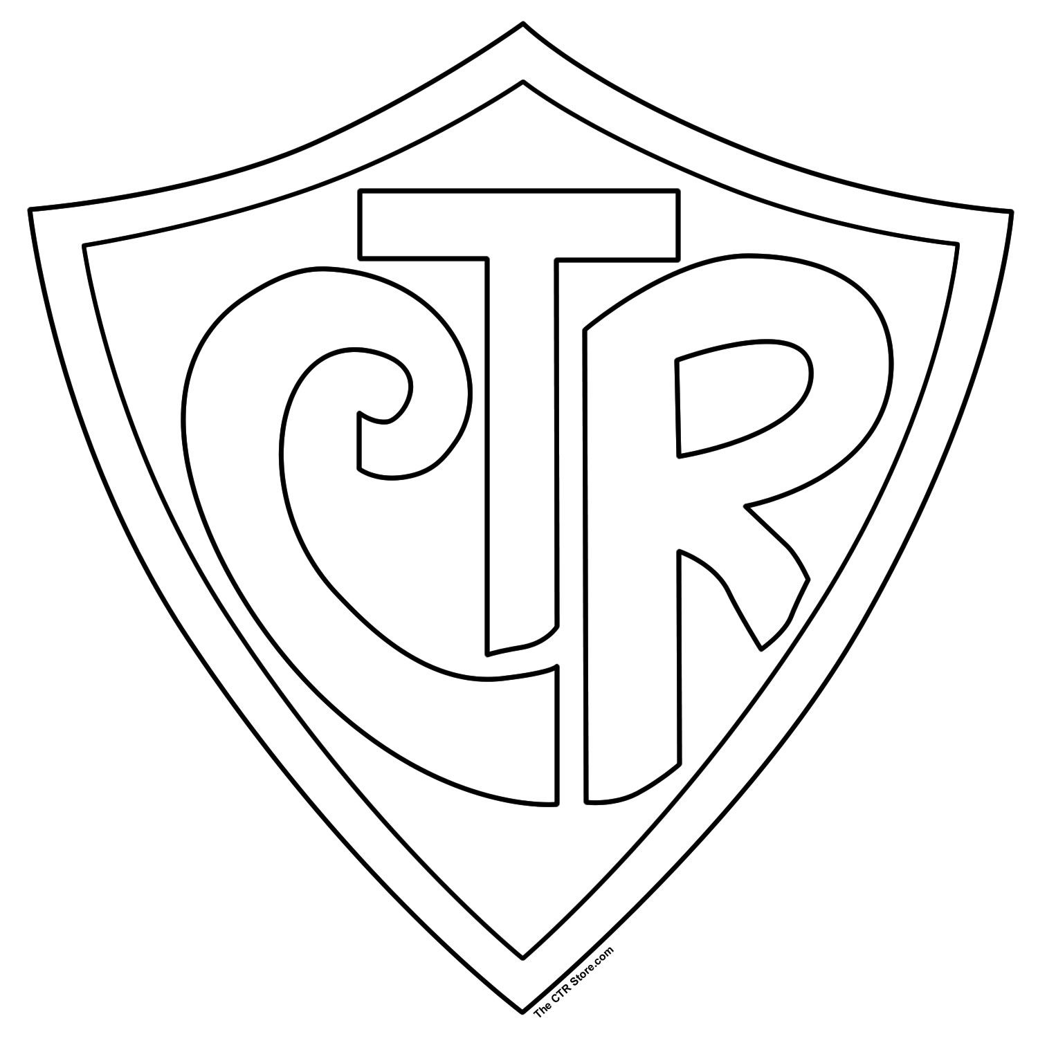 Ctr Shield Coloring Page Ctr Shield Lds Coloring Pages