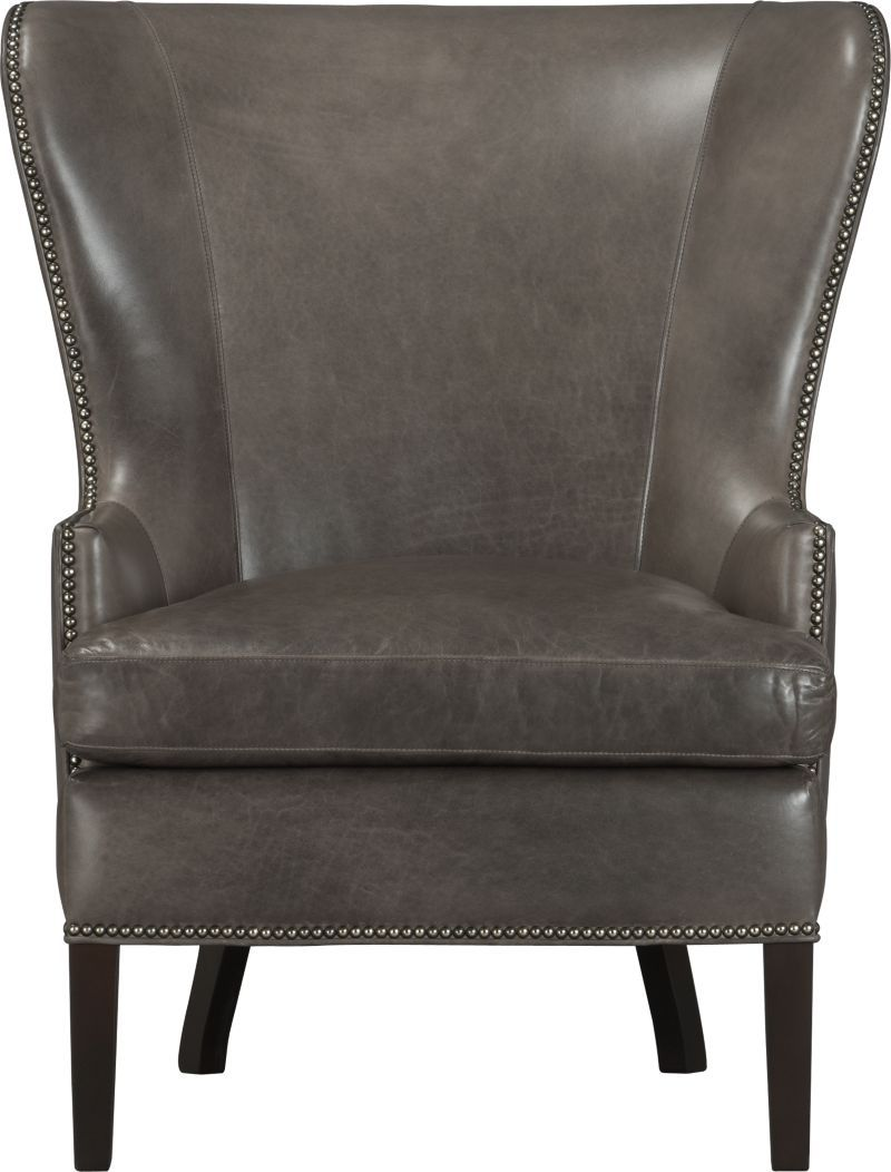 Marvelous Dylan Leather Wingback Chair In Chairs Crate And Barrel Machost Co Dining Chair Design Ideas Machostcouk