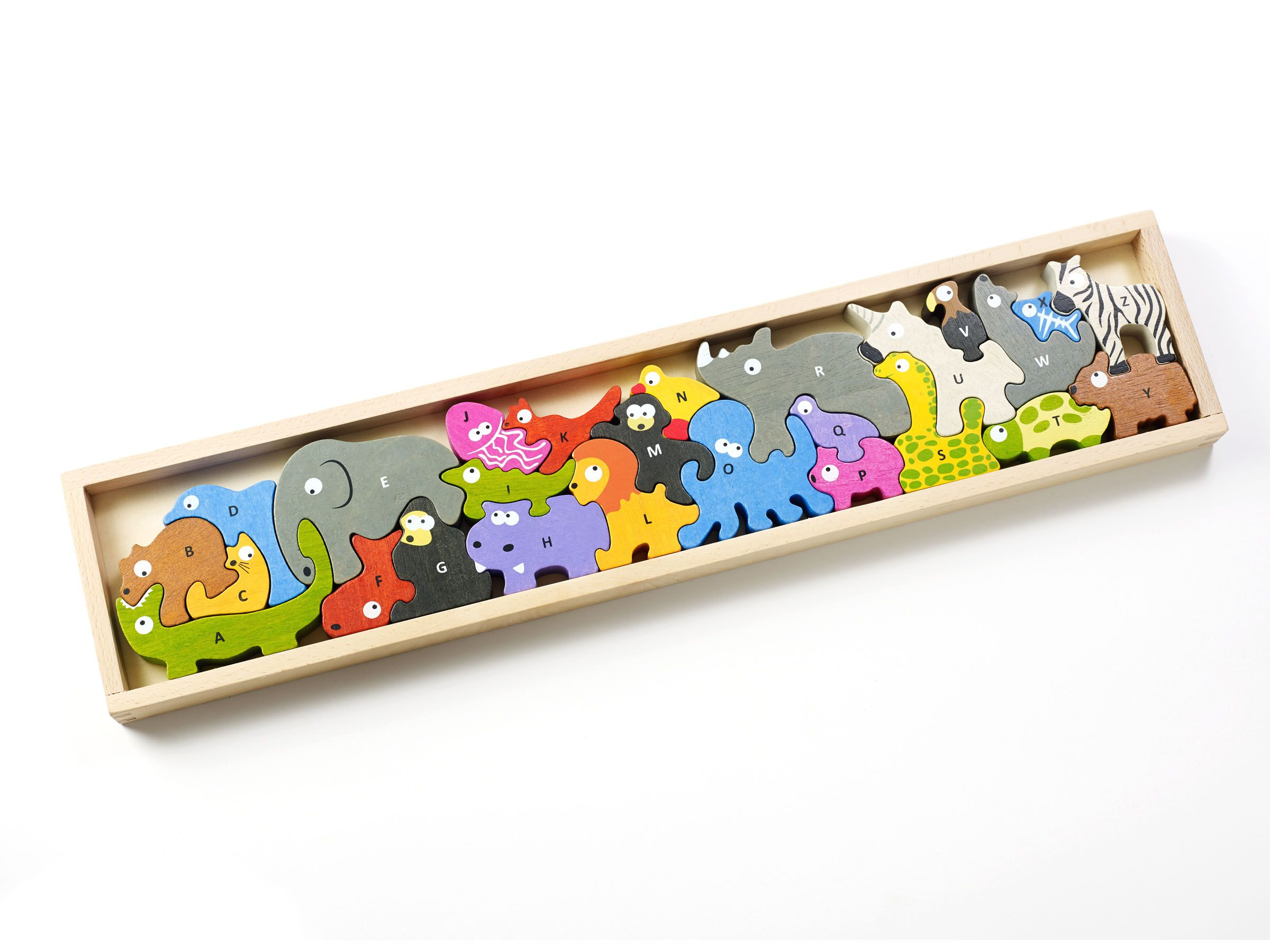 The Animal Parade is a 26piece puzzle featuring one