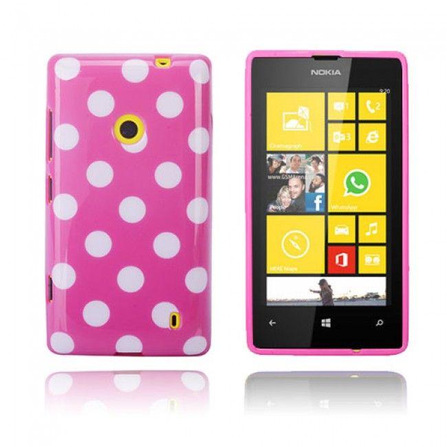 Polka Dote (Pinkki) Nokia Lumia 520 Suojakuori - http://lux-case.fi/polka-dote-pinkki-nokia-lumia-520-suojakuori.html