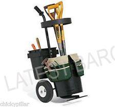Portable Outdoor Garden Caddy Tool Trolley Organiser Buckets New