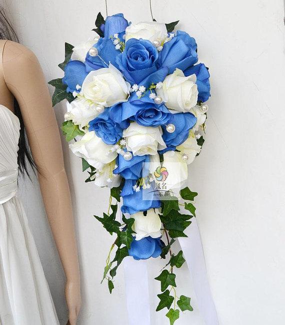 Hochzeit Seide Blumen Blumenstrauss Wasserfall Rose Von Wendyslife