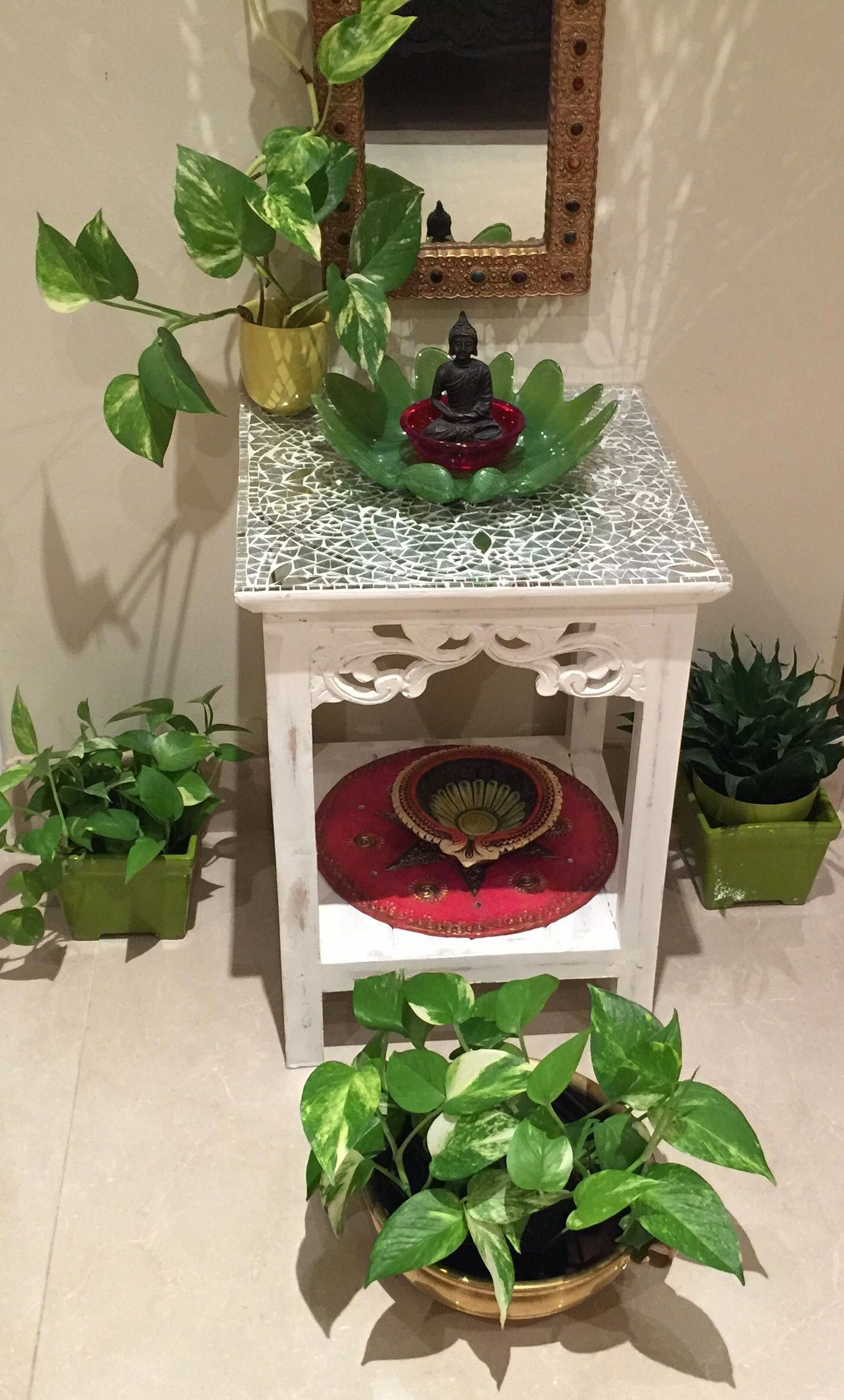 Side tables #orientalhomedecor #buddhadecor