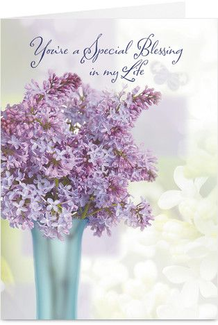 Purple Bouquet Mothers Day Holiday Card