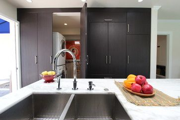 Melrose transitional-laundry-room
