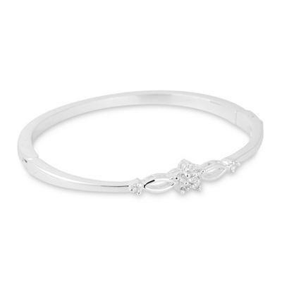 Jon Richard Silver Crystal Floral Bloom Bangle Debenhams Silver Bangles Silver Bracelet