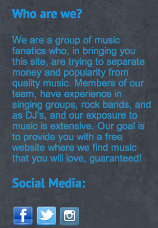 It's about our site! Check us out and follow us on Facebook, Twitter, and Instagram!