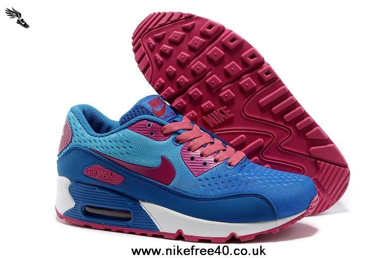 reputable site 635be dafce italy sky blue pink nike air max 90 premium em womens trainers 6e5f1 792e2