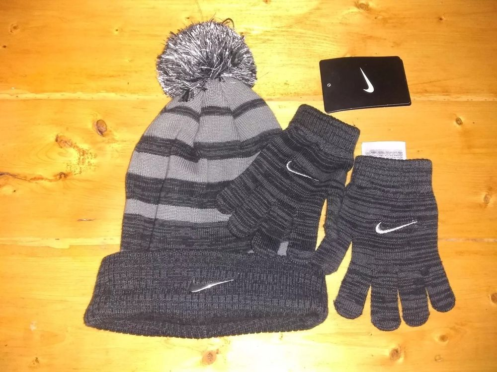 a174cc087c4 NWT KIDS YOUTH TODDLER NIKE BLACK BEANIE HAT GLOVES 2 PIECE SET BOYS GIRL   fashion  clothing  shoes  accessories  kidsclothingshoesaccs   unisexclothing ...