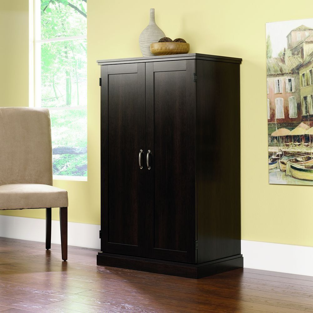 Bowery Hill Wooden Computer Armoire in Cinnamon Cherry