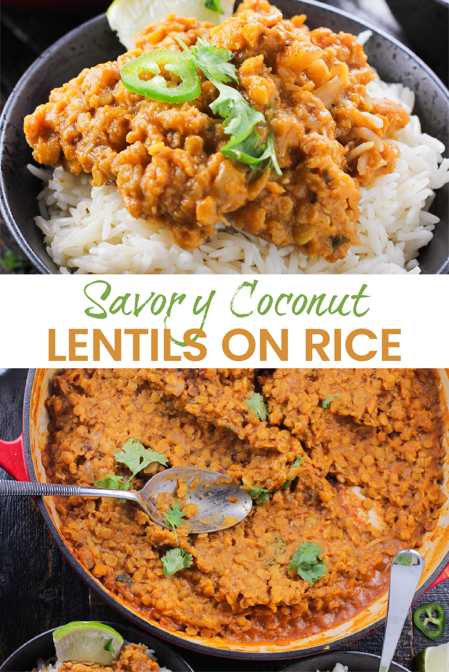 Saucy Coconut Lentils...A One Pot Meal Girl and the