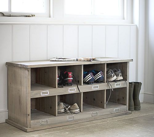 Chedworth Shoe Storage Locker Bench At Spruce Wood With 8 Cubbies For Tidying Away Shoes And Trainers Ideal
