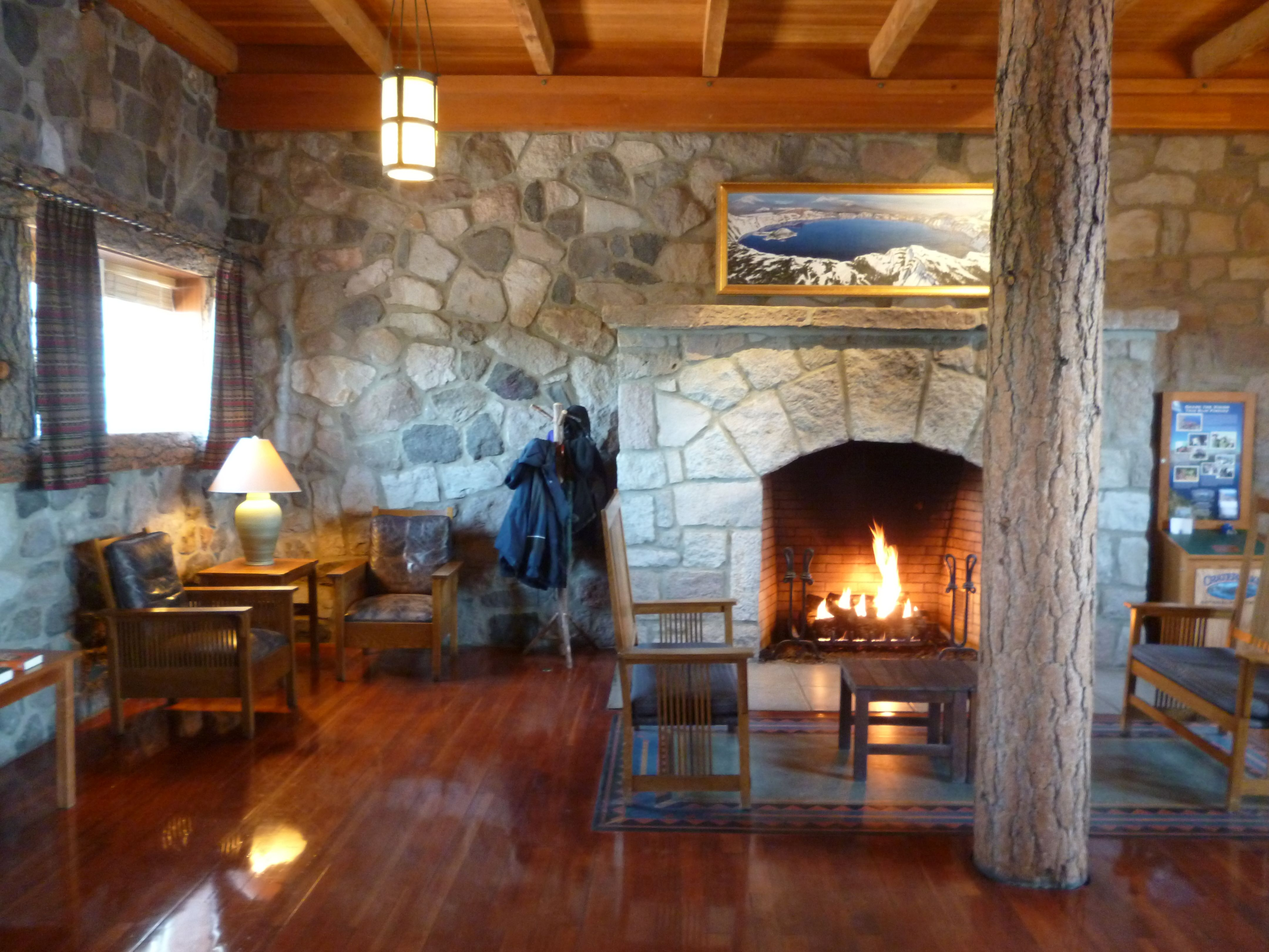 Inside The Lobby Area Crater Lake Lodge Crater Lake Lodge Lodge Lodge Look