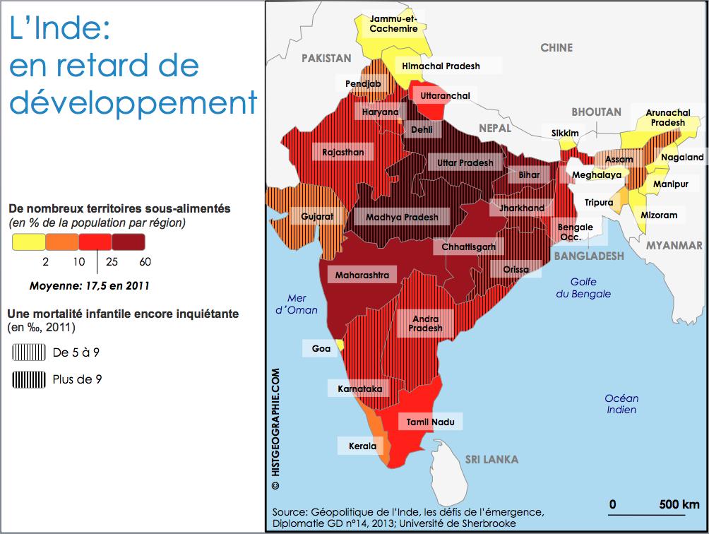 Carte Inde Sikkim.Carte Regionale De L Union Indienne Des Disparites De Developpement