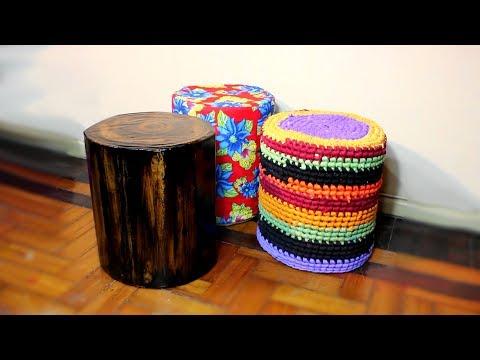 DIY - CARDBOARD stool