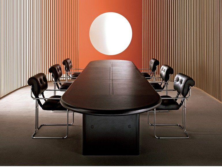 Oval wooden meeting table Big/Superbig Collection by i 4 Mariani ...
