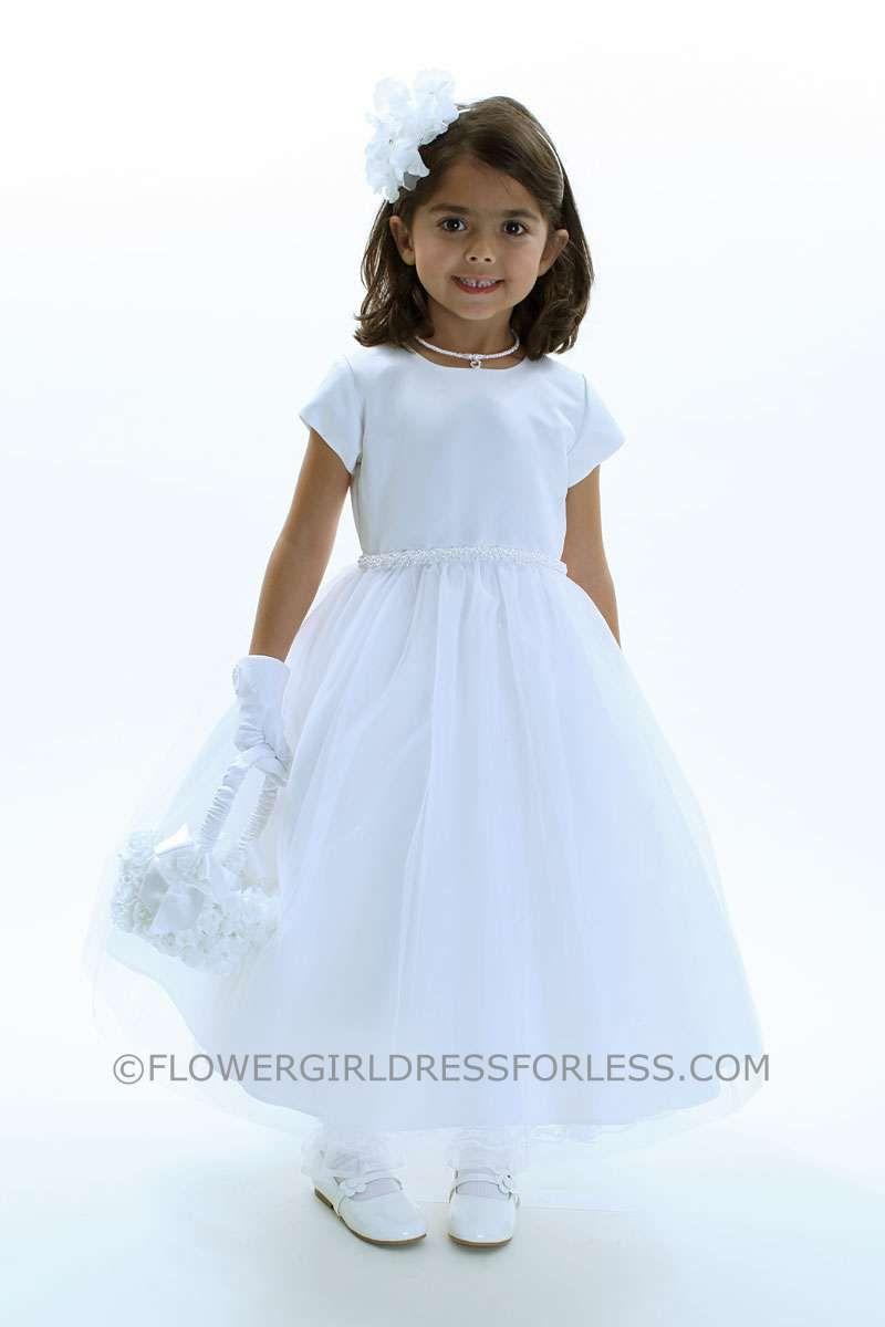 e211f34d8b US Angel Flower Girl Dress Style 243 US Angels Designer- SALE White sizes  7