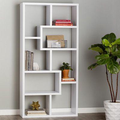 Mercury Row 71 Accent Shelves Bookcase Finish White