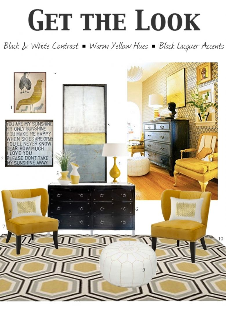 Comfortable yellow accent chairs household furniture on home