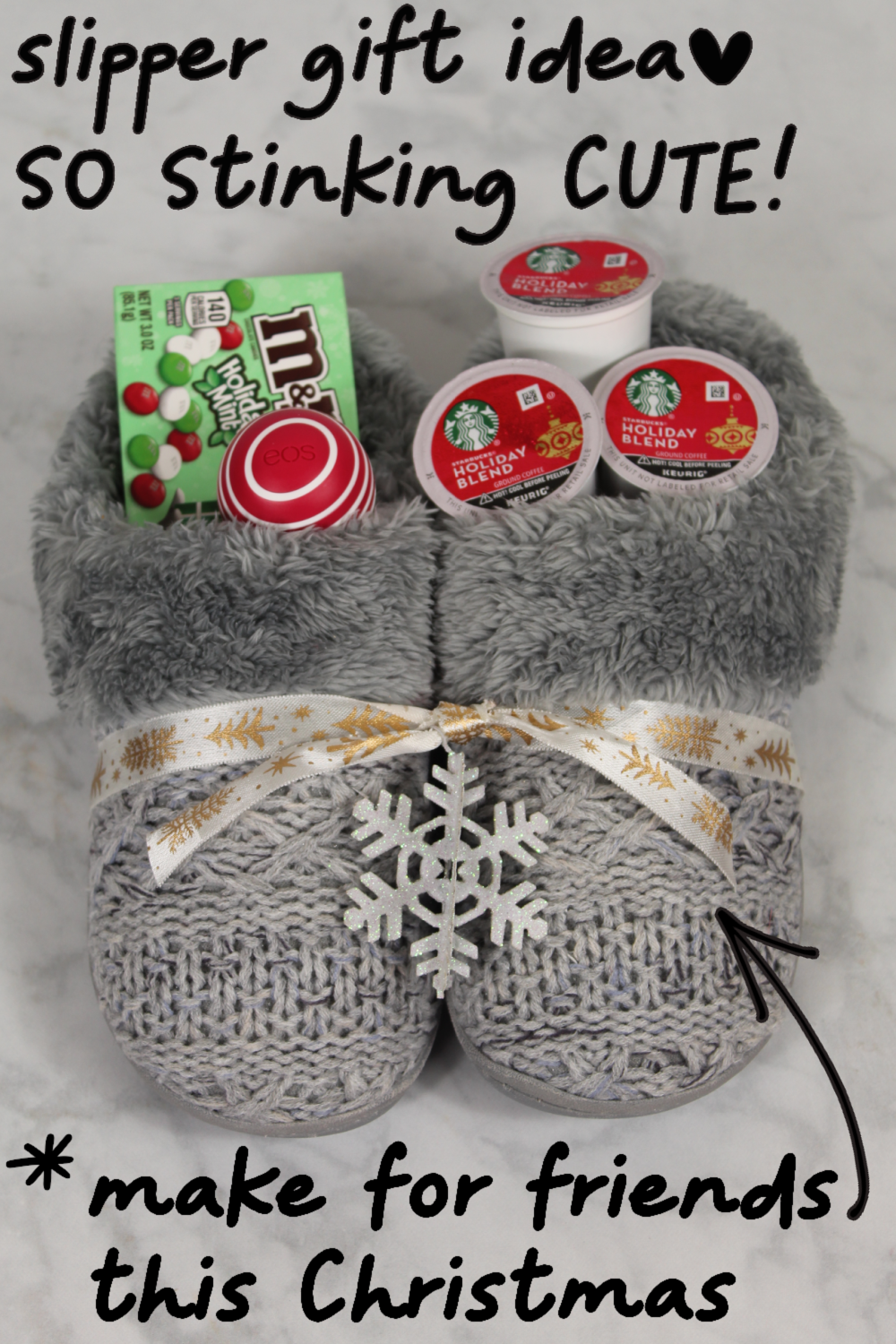 4 Cute Diy Christmas Slippers Gift Basket Ideas In 2020 Cute Christmas Gifts Bff Christmas Gifts Creative Christmas Gifts