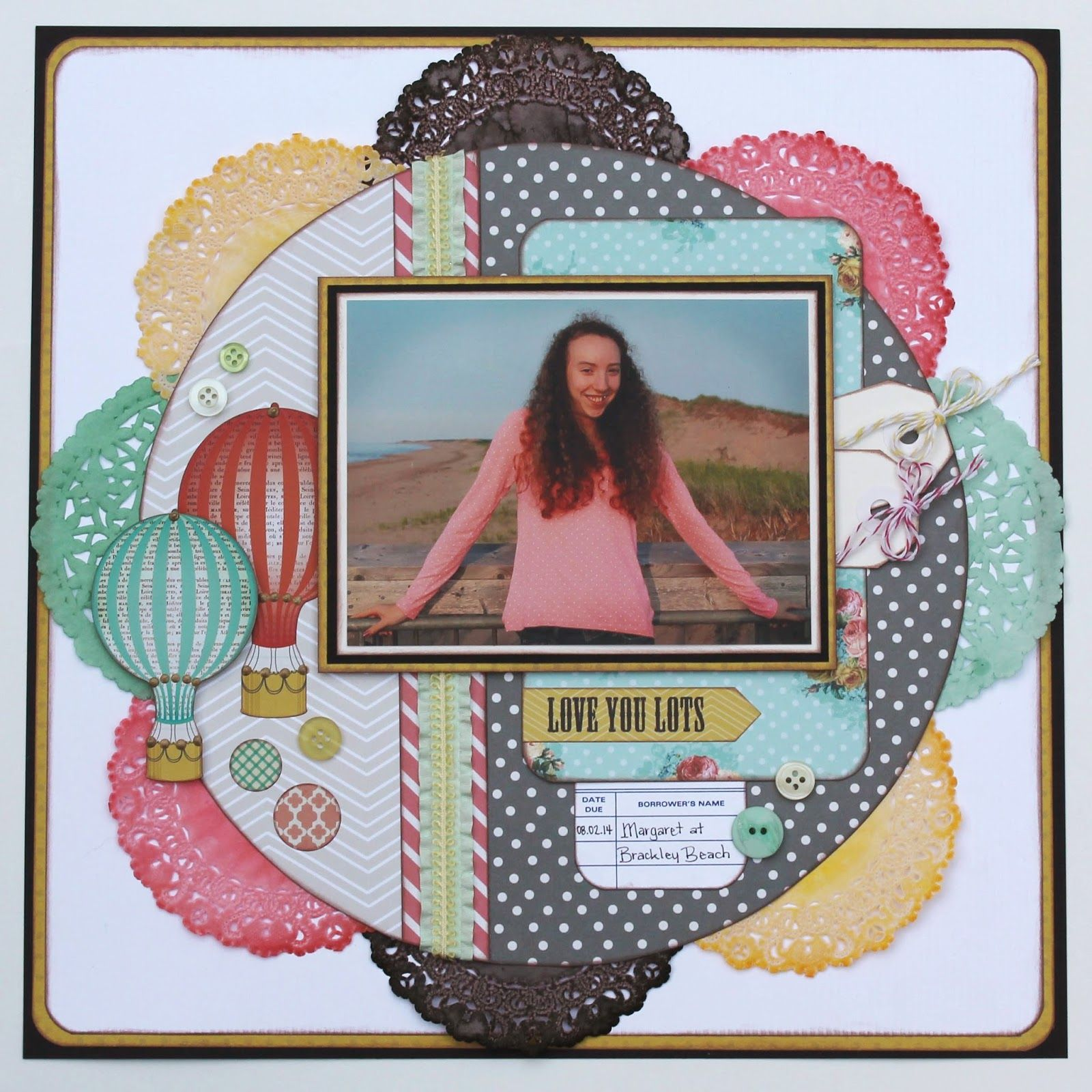 Scrapbook ideas with ribbon - Scrapbook Layout May Arts Ribbon Curtsey Boutique My Mind S Eye