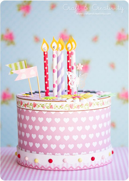 How To Make A Paper Cake Pinterest Paper Cake Crafts And Diy