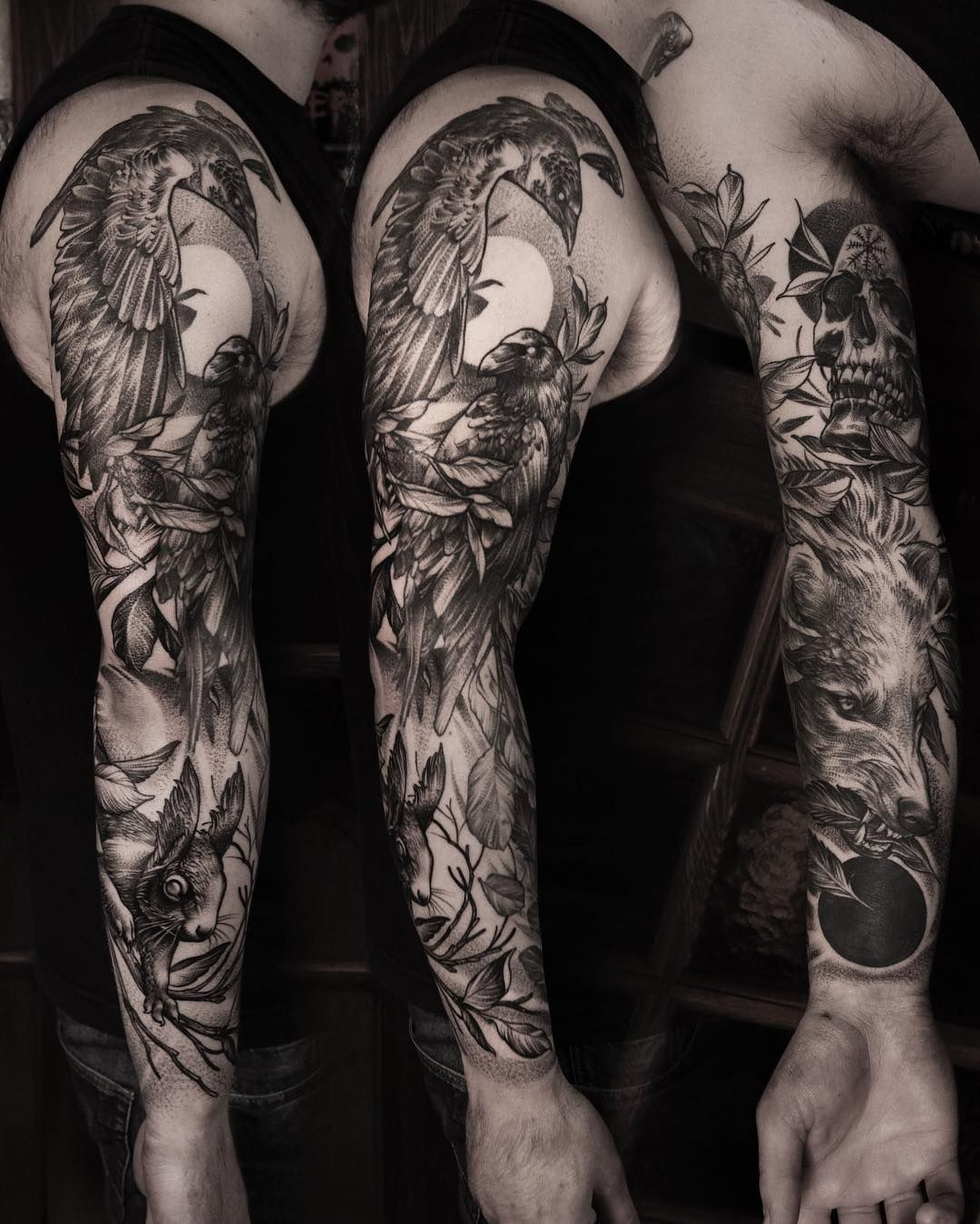 50 Bamboo Tattoo Designs For Men: Black Raven Tattoos - 55 Best Ideas For You (2019)