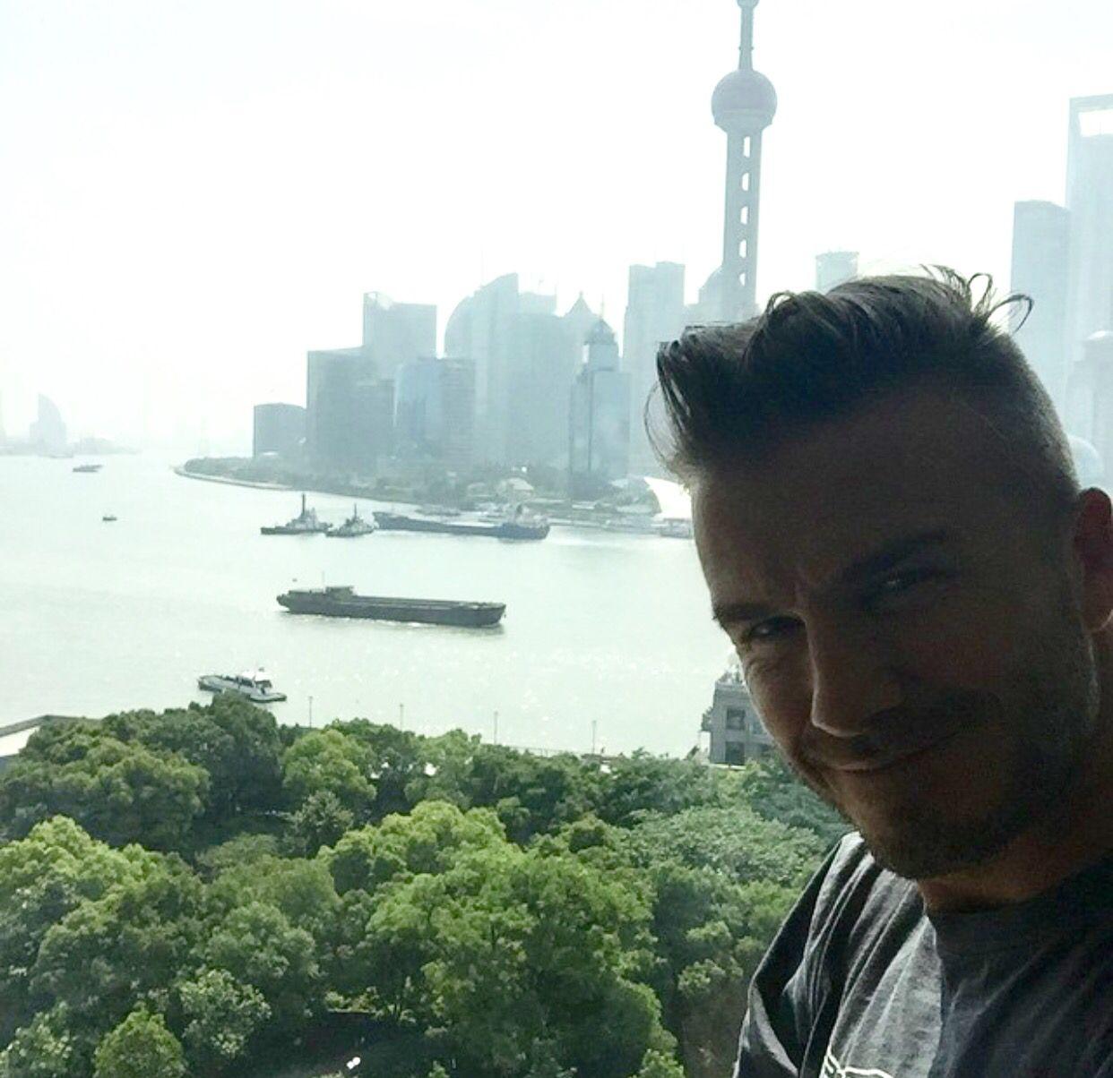 David Beckham in Shanghai