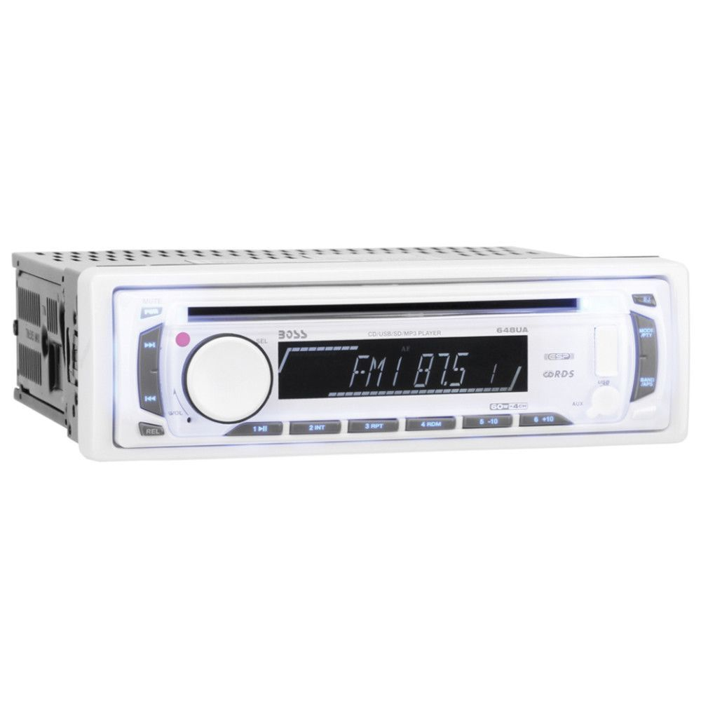 Boss Audio MR648W In-Dash Single-Din Detachable MP3/CD/AM/