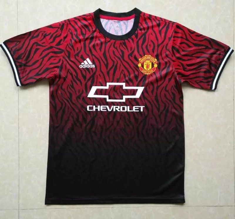3725975448d Manchester United Jersey 2017 18 Soccer Training Shirt