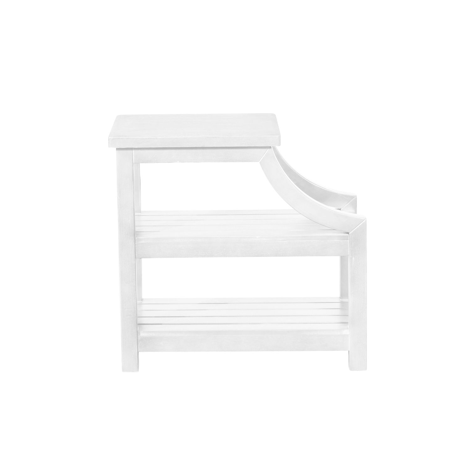 Williams White Tiered Side Table