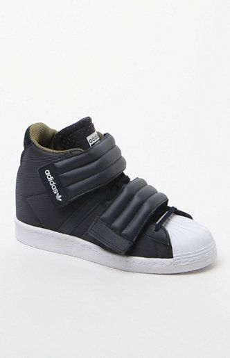 promo code 6180e 8da3c Women s Superstar Up Two-Strap Navy Sneakers Pacsun Adidas, Lifestyle  Clothing, Adidas Superstar