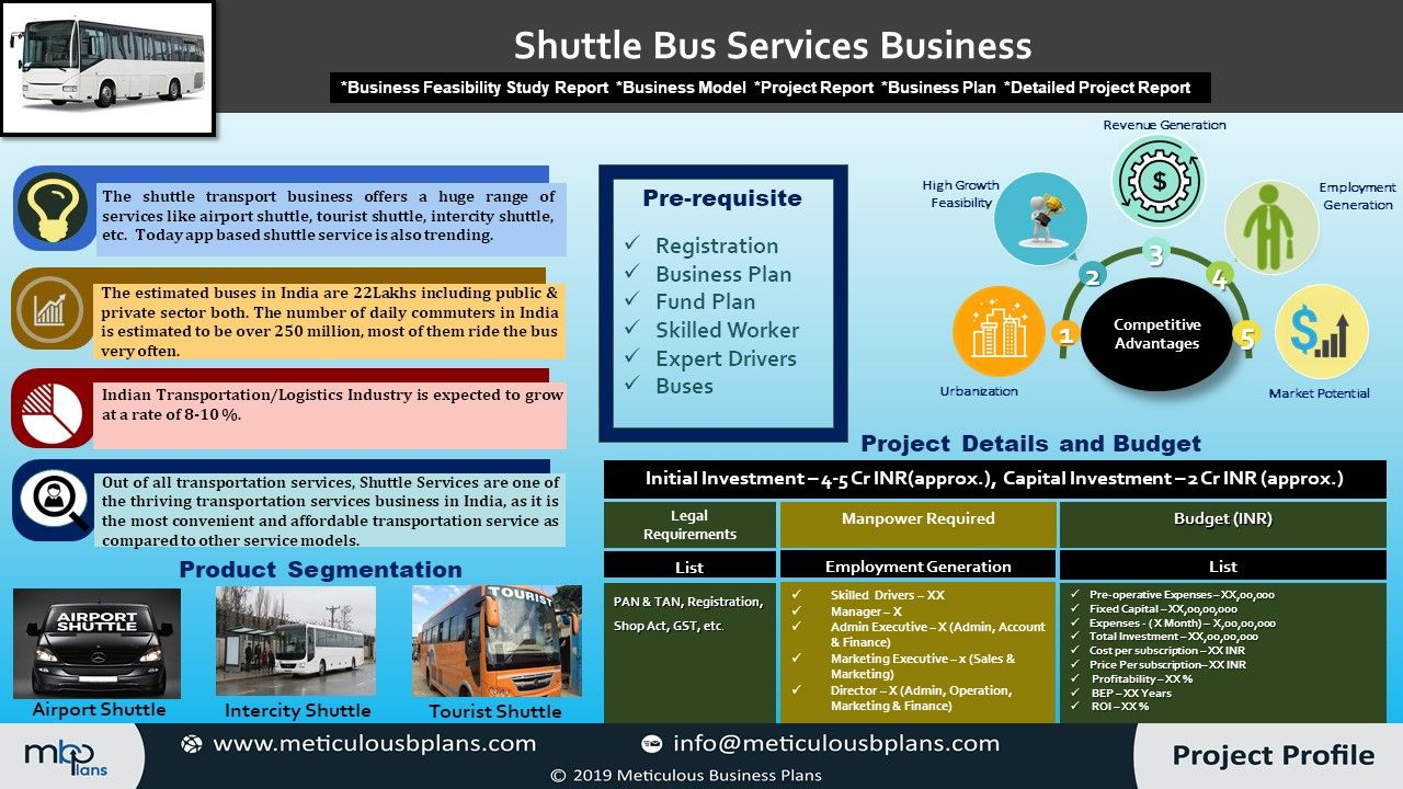 Shuttle bus services business Shuttle bus service