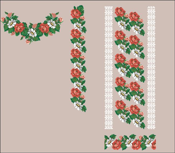 2b2d5525cb8357 Вышиванка для девочек. Схема вышивки - купить в Львове | Етно-Вишивка