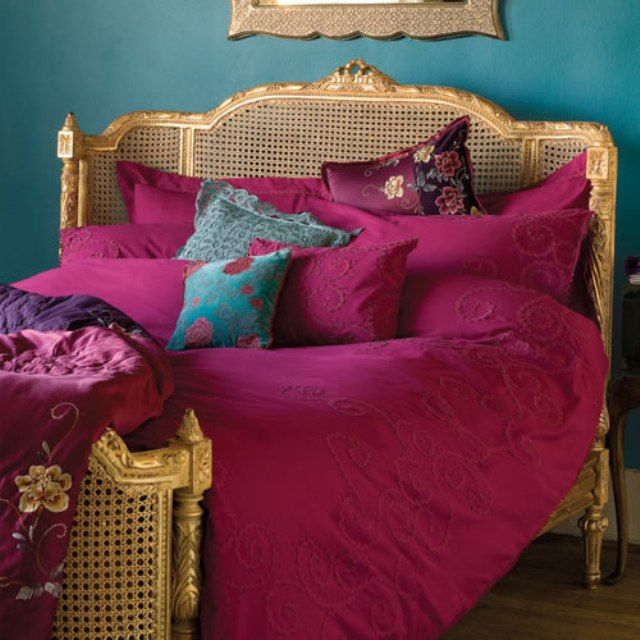 Magenta Bedroom: French Bedroom Fuchsia Turquoise